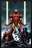 Iron Man No84 Cover: Iron Man  Falcon  Black Panther  Wasp  Ant-Man and Avengers