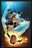 Ultimate X-Men No57 Cover: Grey  Jean  Iceman  Cyclops and Shadowcat Fighting