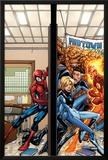 Marvel Adventures Spider-Man No39 Cover: Spider-Man  Fatastic Four