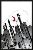 Daredevil No4 Cover: Daredevil Swinging through the City