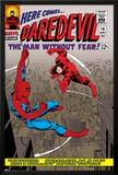 Daredevil No16 Cover: Spider-Man and Daredevil Charging
