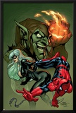 Marvel Knights Spider-Man No10 Cover: Spider-Man  Black Cat and Green Goblin