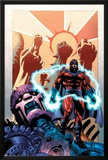 Civil War: House Of M No1 Cover: Magneto and Sentinel