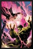 Incredible Hulks No619 Cover: Hulk and Dr Strange Fighting