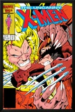 Uncanny X-Men No213 Cover: Sabretooth and Wolverine