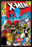 X-Men Annual No10 Cover: Warlock  Sunspot  Wolfsbane and New Mutants