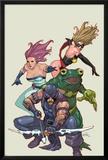 Spider-Island: Avengers No1: Hawkeye  Ms Marvel  Jessica Jones  and Frog-Man