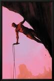 Daredevil: Reborn No3 Cover: Daredevil Climbing