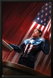 Captain America No613 Cover: Captain America Standing in Front of the American Flag