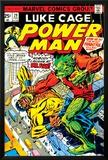 Marvel Comics Retro: Luke Cage  Power Man Comic Book Cover No29  Fighting Mr Fish