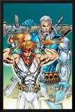X-Force: Shatterstar No3 Cover: Shatterstar and Cable Jumping