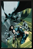 Uncanny X-Force No1 Cover: Wolverine  Psylocke  Deadpool  Fantomax  and Archangel Posing