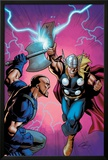Marvel Adventures Super Heroes No6 Cover: Thor Fighting