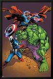 Marvel Adventures Super Heroes No21 Cover: Captain America  Hulk  and Dr Strange Posing