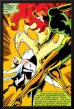 Marvel Comics Retro: X-Men Comic Panel  Phoenix  Emma Frost  Fighting