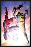 Astonishing Spider-Man & Wolverine No3 Cover: Spider-Man and Wolverine Fighting