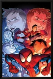Ultimate Spider-Man No14 Cover: Spider-Man Posing