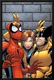 Marvel Adventures Spider-Man No7 Cover: Spider-Man  Wolverine  and Shadowcat Standing