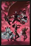 Uncanny X-Force 35 Cover: Psylocke  Archangel  Fantomax  Deathlok  Deadpool  Nightcrawler