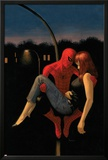 The Amazing Spider-Man No640 Cover: Spider-Man Holding Mary Jane Watson