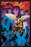 X-Men: Battle of the Atom 1 Cover: Jean  Iceman  Beast  Angel  Wolverine  Storm  Hayes  Molly