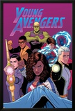 Young Avengers 13 Cover: Hulkling  Prodigy  Wiccan  Noh-Varr  Bishop  Kate  Miss America
