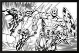 Avengers Assemble Inks Featuring Iron Man  Captain America  Thor  Black Widow