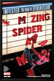 The Amazing Spider-Man No665 Cover: Spider-Man Falling from the Marquee