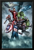 Avengers Assemble Artwork with Thor  Hulk  Iron Man  Captain America  Hawkeye  Black Widow  Loki