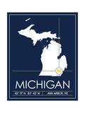 University of Michigan State Map