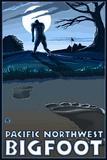 Pacific Northwest - Bigfoot Scene