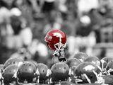 Arkansas Razorbacks Football Helmet Held High