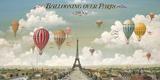 Vol en ballon au dessus de Paris Giclée par Isiah And Benjamin Lane