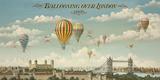 Ballooning Over London Giclée par Isiah And Benjamin Lane