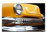 Yellow Car Grill & Headlight