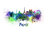 Paris Splatter Skyline Aquarel