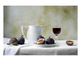Figs and Red Wine Still Life