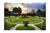 Schonbrunn Palace Garden at Sunset