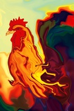 The Cock Giclée premium par Rabi Khan