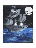 Ghost Ship Skull & Cross Bones Halloween