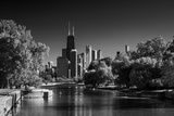 Lincoln Park Lagoon Chicago BW