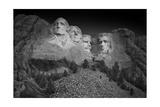 Mount Rushmore South Dakota Dawn BW