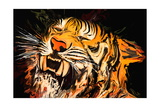 Le tigre Giclée premium par Rabi Khan