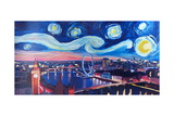 Starry Night in London - Skyline with Big Ben