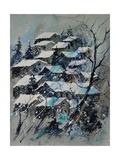 Watercolor 4121132 Snow Landscape