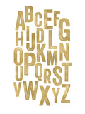 Alphabet Golden White