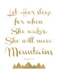 Let Her Sleep Mountains Golden White