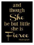 Fierce Shakespeare Golden Black