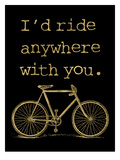 Bicycle I'd Ride Anywhere Golden Black
