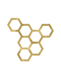 Honeycomb Modern Golden White